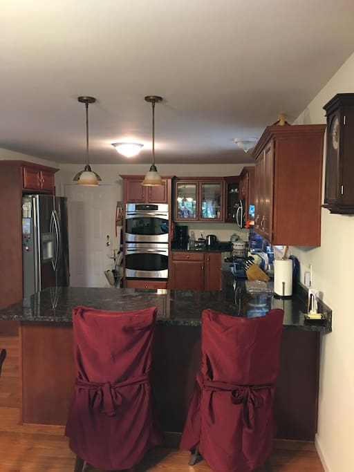 Kitchen from dining room view