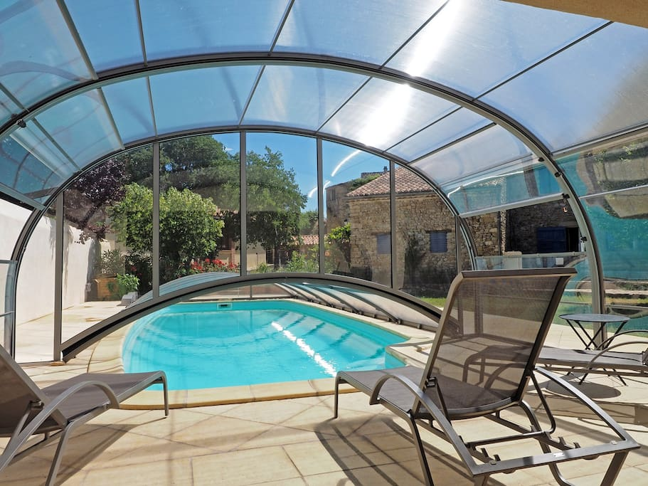 Le caf le mas de la guite houses for rent in saint romain en viennois provence alpes c te - Airbnb piscine interieure ...