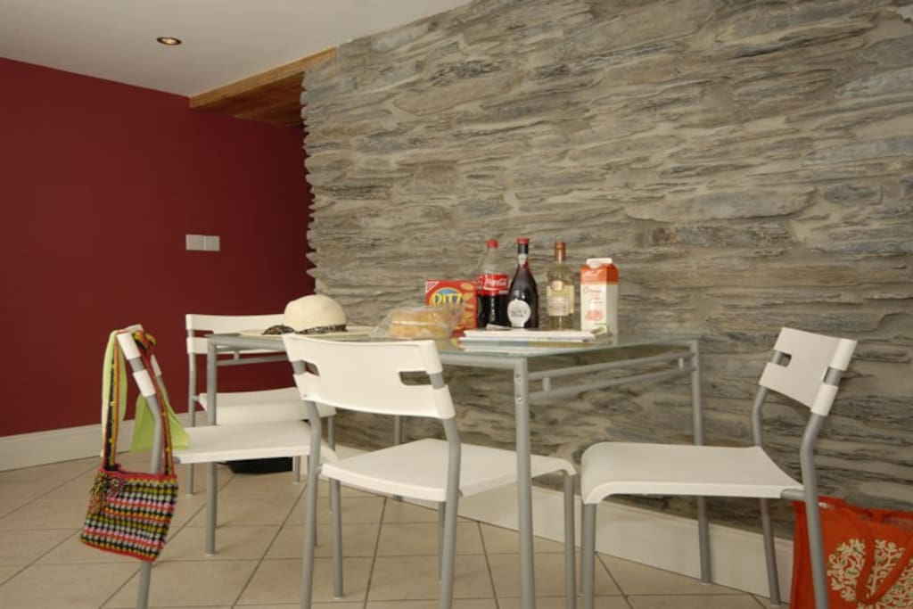 The open plan kitchen diner provides a great place for you to make breakfast and read the paper in the mornings