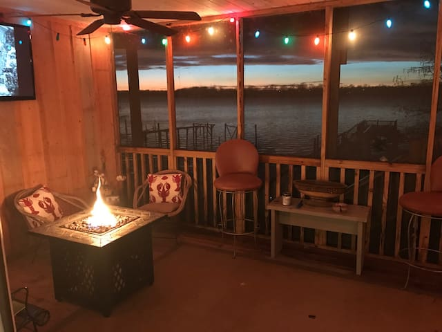 Relax on our screen porch over the water!