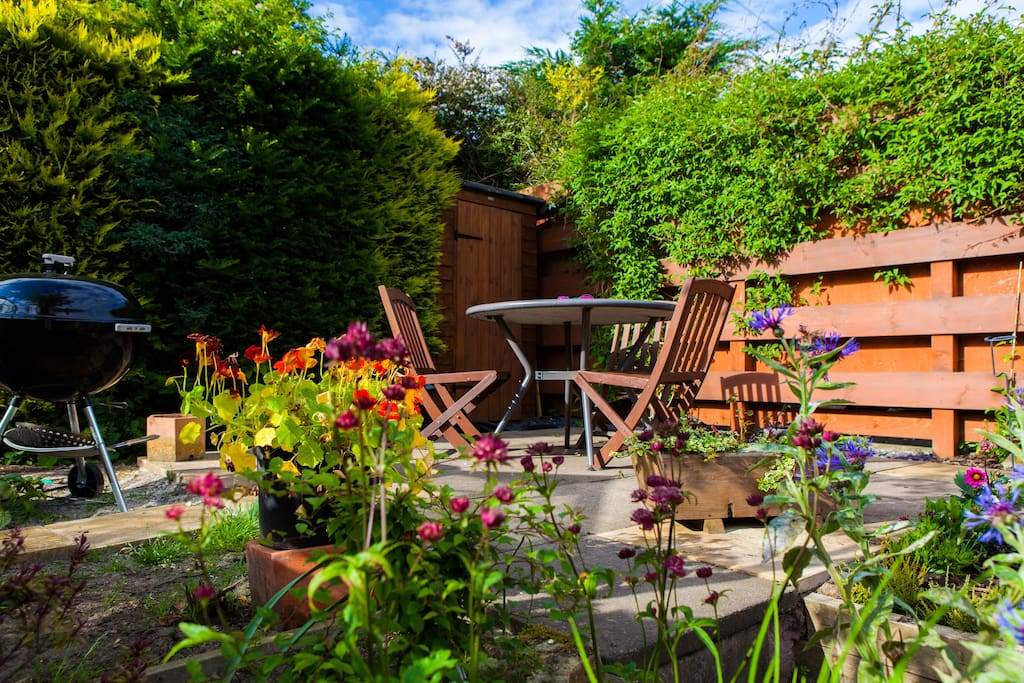 Feel free to sit out in the garden
