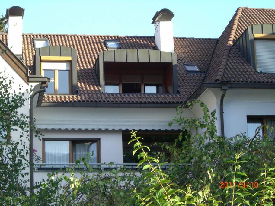 Vista esterna dell'appartamento