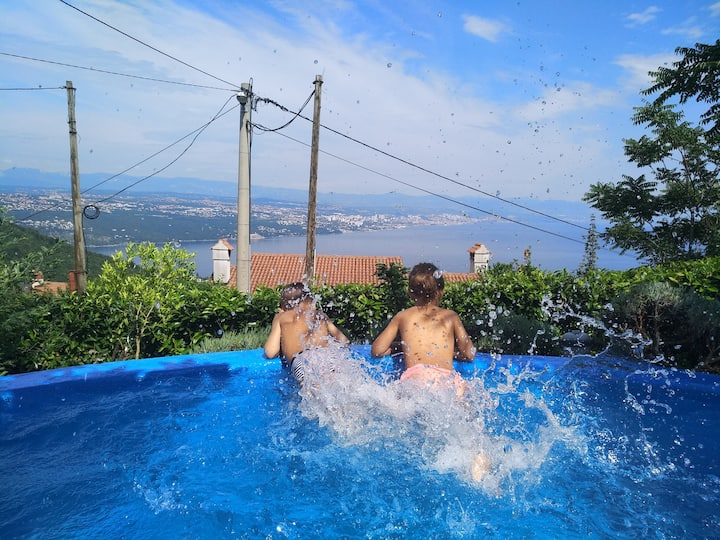 Apartment Mare above Opatija - breathtaking view