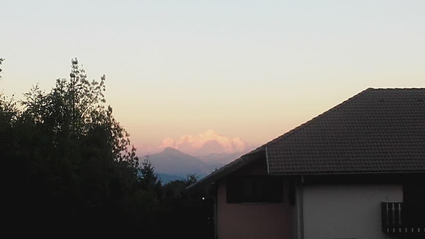 Appartement ensoleillé à Gex vue Mont Blanc