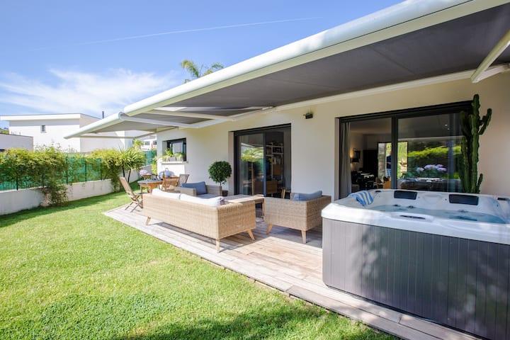 Villa californienne avec jacuzzi, plage à 5 min