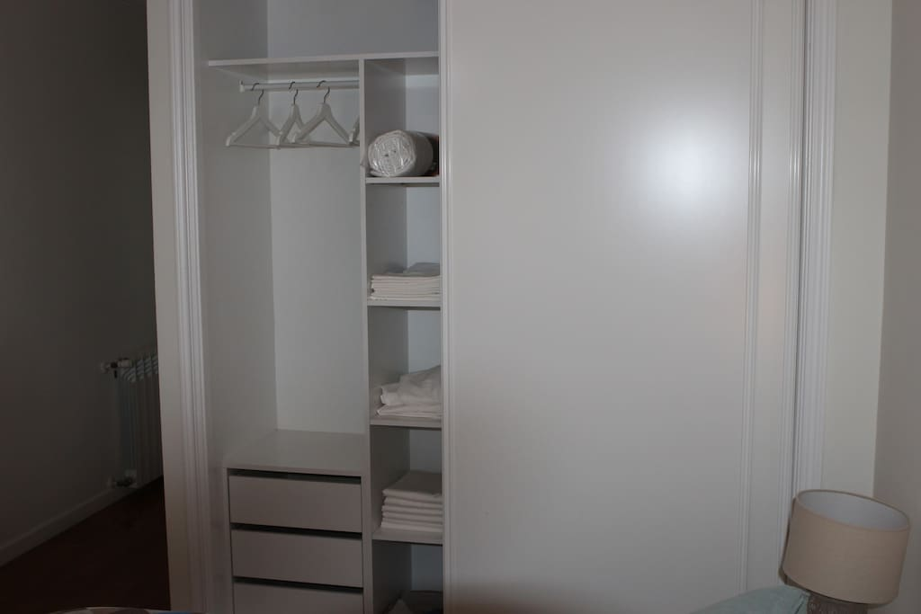 Closets in each room