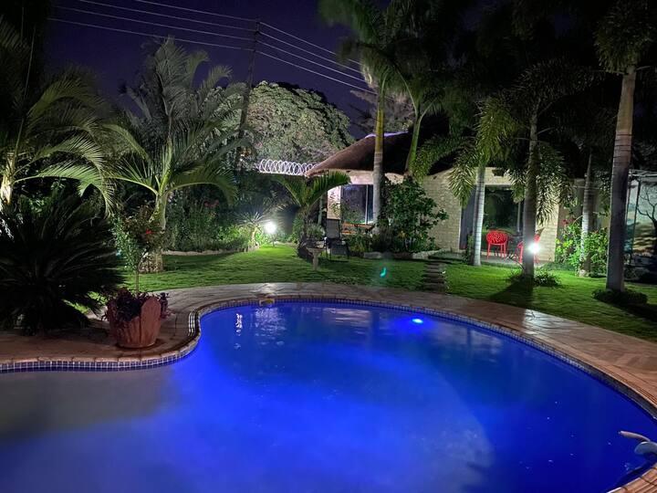 Lusaka's Lush Paradise - The Eagle cottage