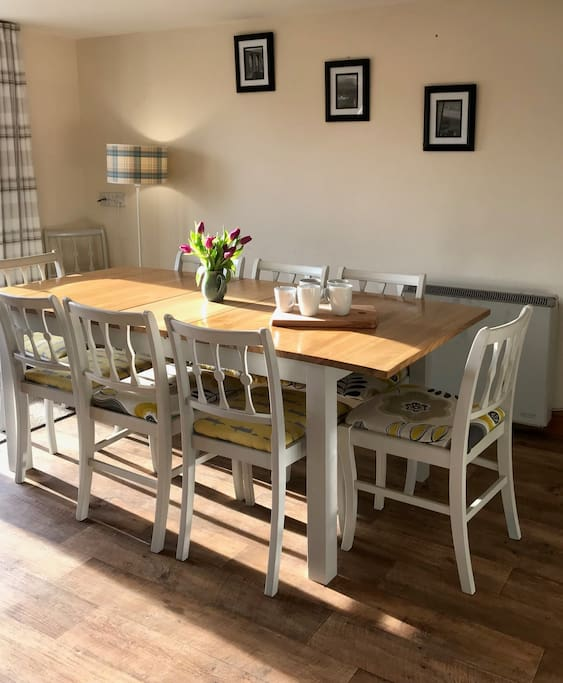 Open plan dining area seating up to 12