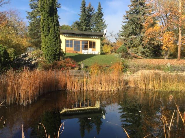 Ferienhaus, großes Grundstück mit Schwimmteich
