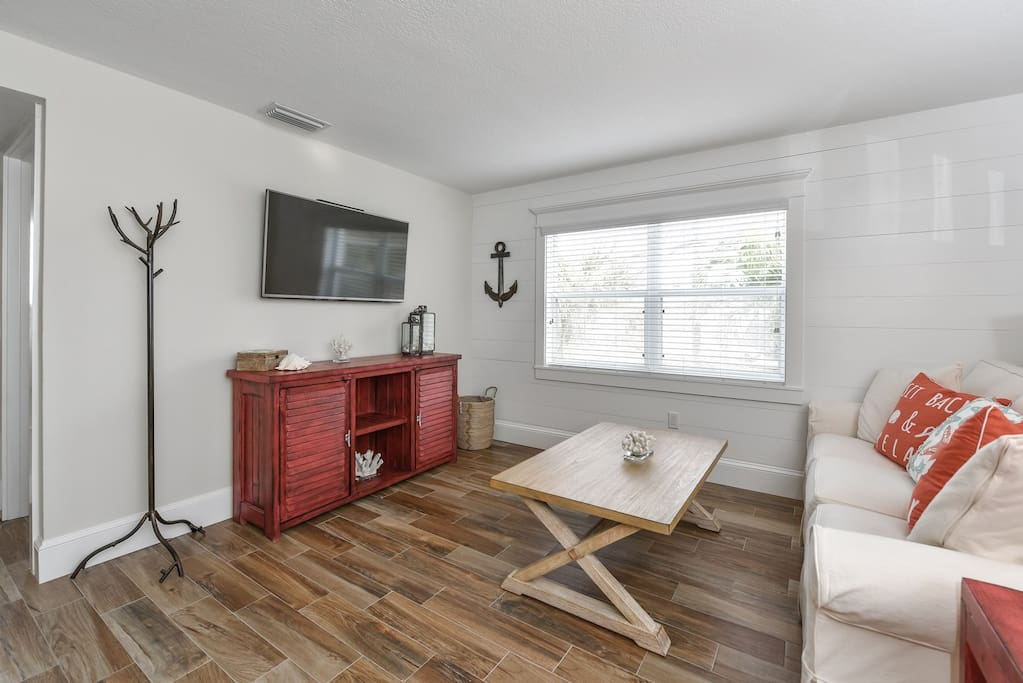 Living Room Area with Large HDTV