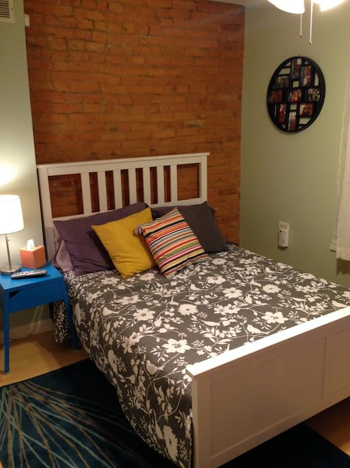 Charming guest room with access to second floor deck