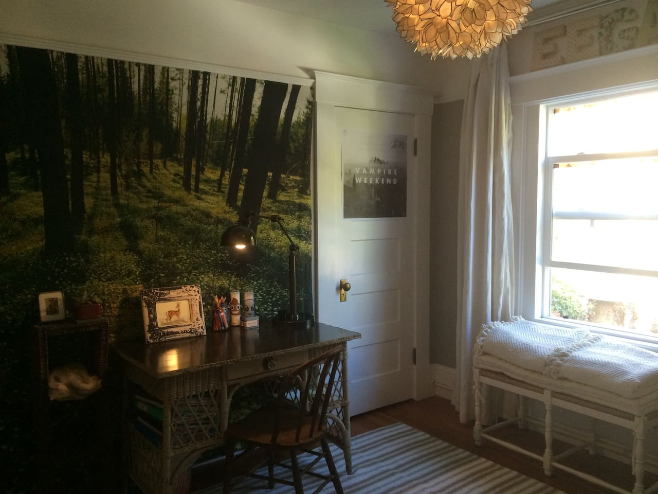 Nice room with trundle bed, (sleeps two) desk