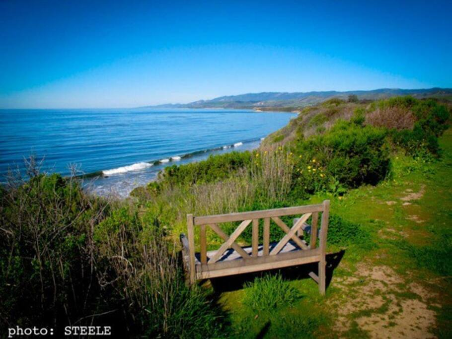 Short walk to the beach with private access.