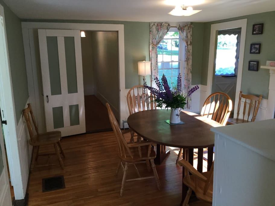 Another picture of the dining room, from another angle.