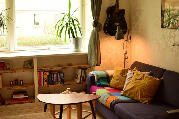 Cozy apartment in a vibrant area.