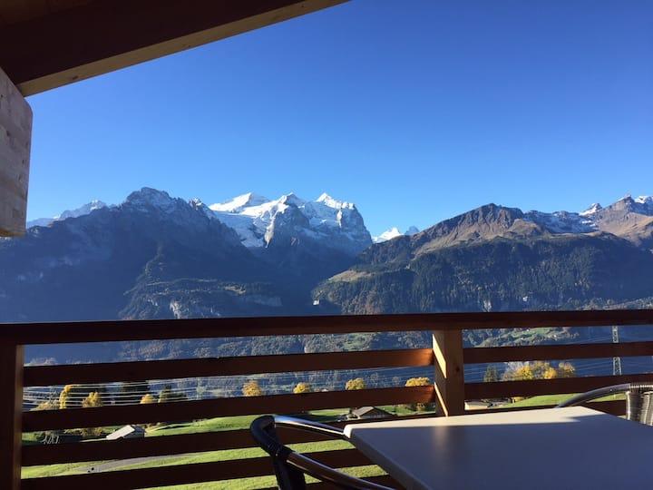 Chalet Fuhri mit atemberaubendem Bergblick