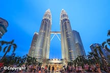 Petronas Twin Towers - a 15 mins walking distance from the apartment