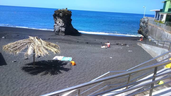 La caracola en la playa