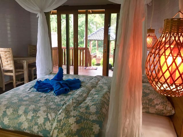 This is bedroom in FN wooden house