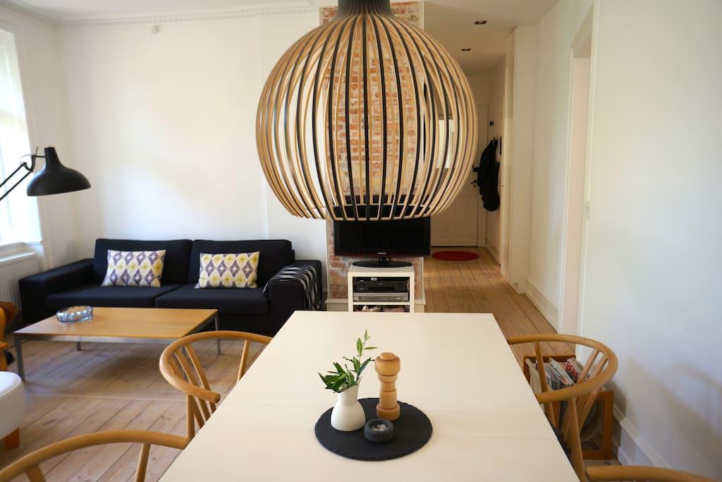 Livingroom in Scandinavian minimalistic design