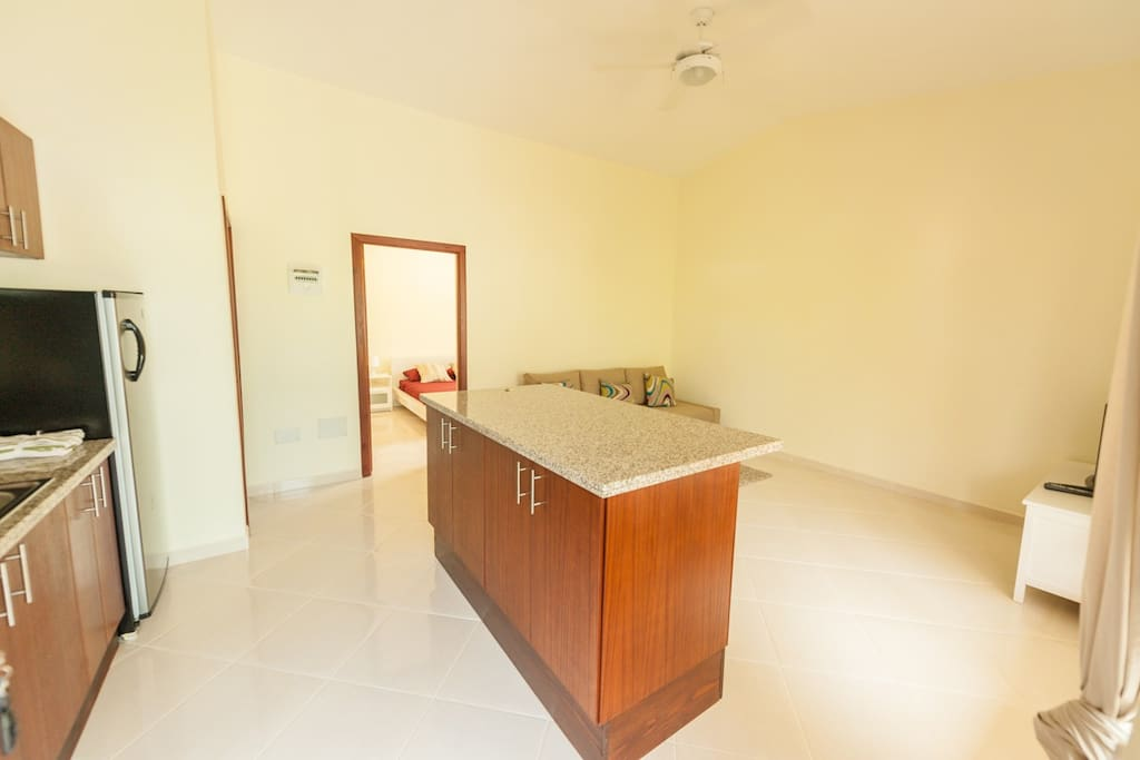Entry to open plan living space