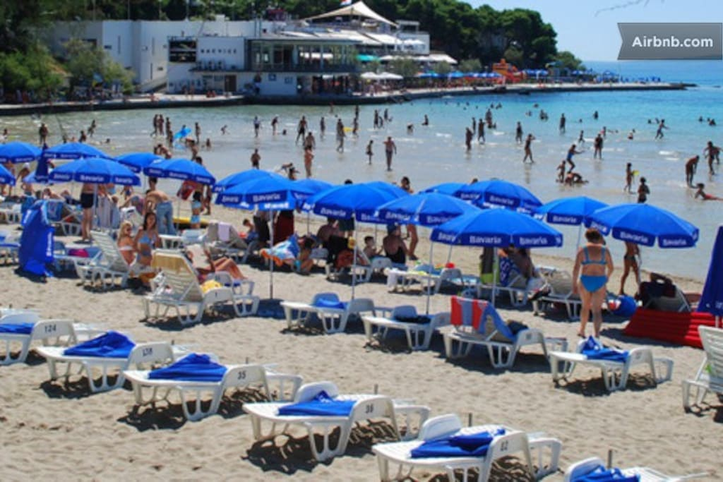 the most popular Bacvice beach