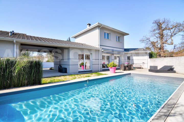 Villa privée au cœur des vignes, sud de Bordeaux
