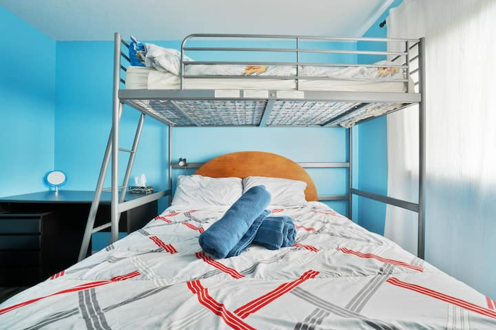 Double Bed and Loft for three