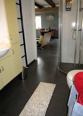 Spacious bathroom on the ground floor