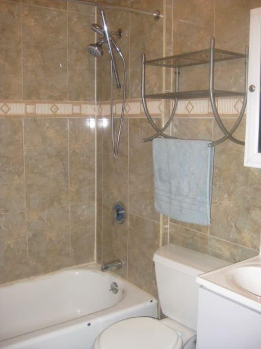 Clean full bathrooom