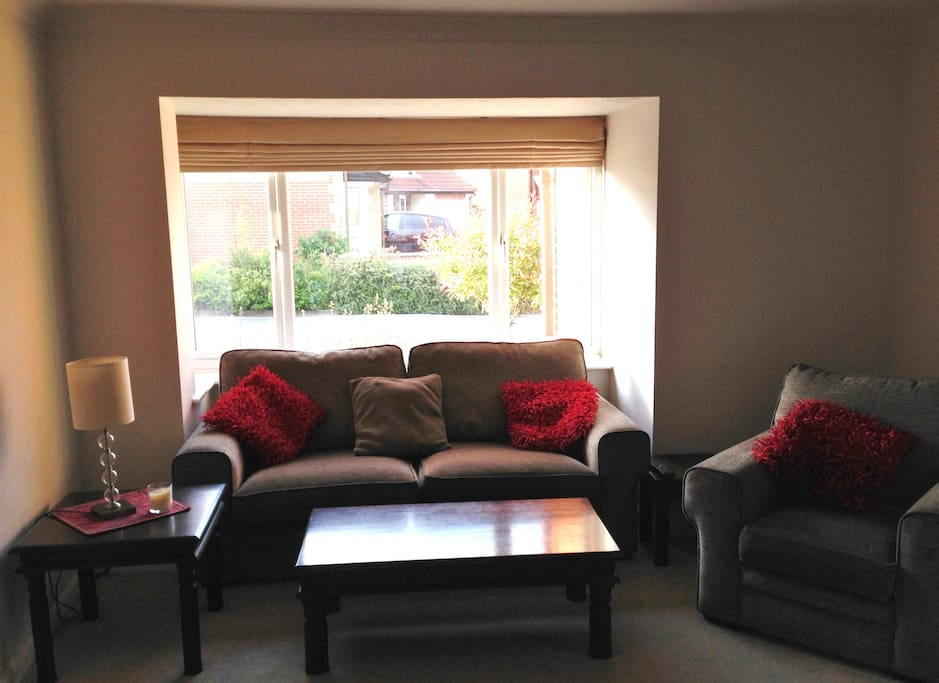 Comfortable lounge with Smart TV with Freeview, dvd player and selection of DVDs