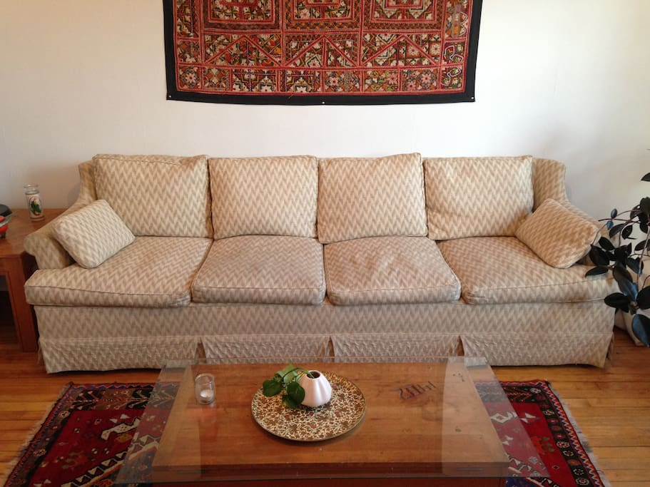 large, super comfy down-filled couch