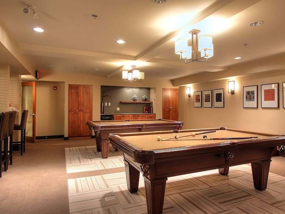 Pool tables in the Cascade Club