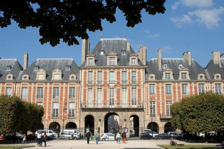 100m Elegant Flat Place des Vosges