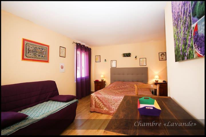 Chambre LAVANDE en rez de chaussée - Lédenon - Bed & Breakfast