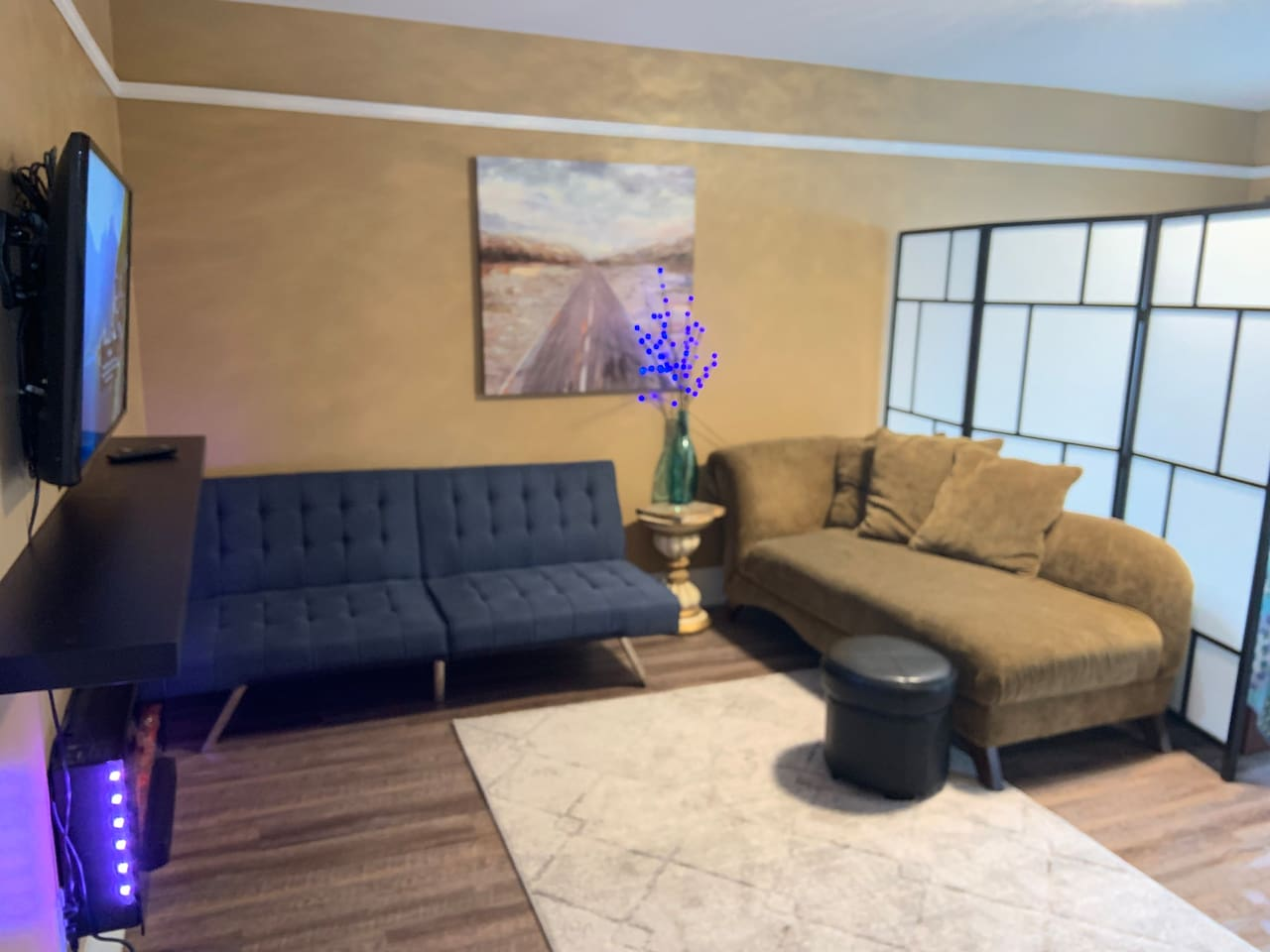Living Room + Foldable Eurolounger couch