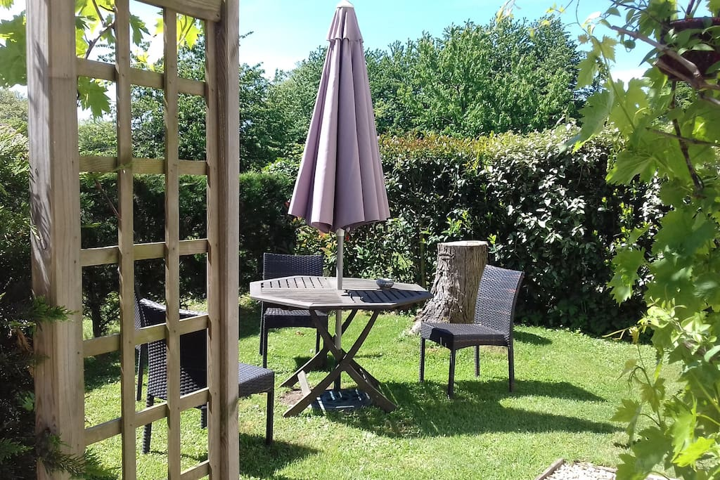 At the front of the cottage is your own secluded garden, with garden furniture and mobile BBQ, two sun loungers are available for your use as is the gardens of the main property.