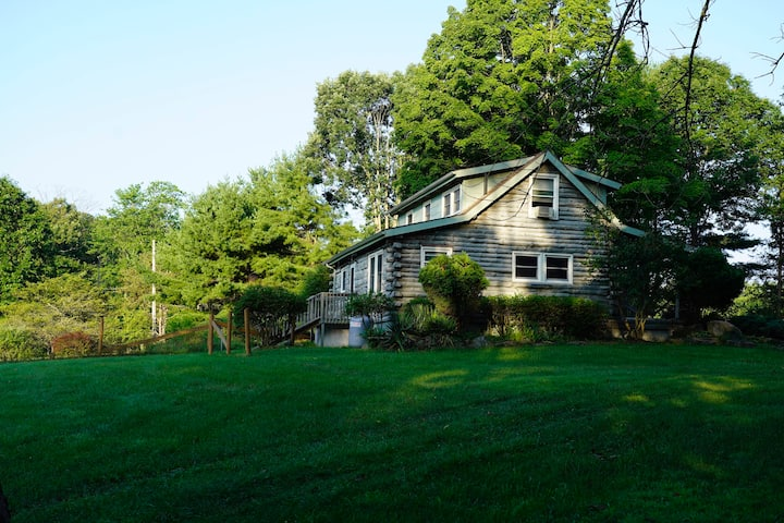 Hudson Valley Log Home with Open View