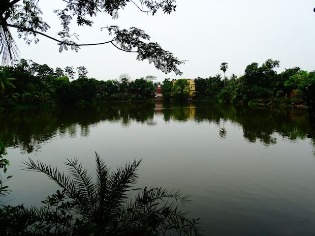 View of the Property from across the Dighi (Large Lake)