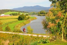 Enjoy the Rail Trail! 91 miles of trail, just down the road (less than a mile).
