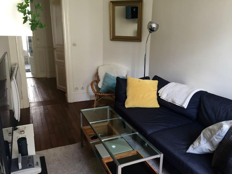 Salon, avec canapé-lit