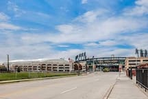Walking distance to Ford Field and Comerica Park.