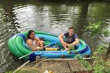 You can come on the river / Sie können auch auf dem Fluss herkommen
