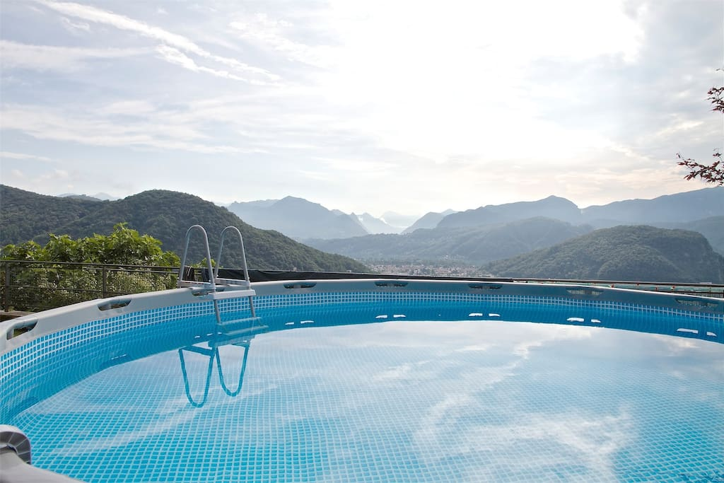 Vacation Rental on Lake Lugano with pool and lake view - Villa Farinelli
