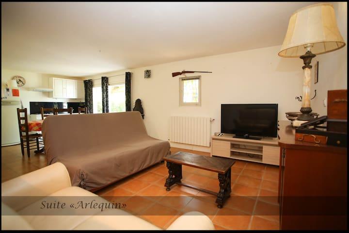 Suite ARLEQUIN en rez de jardin - Lédenon - Apartemen