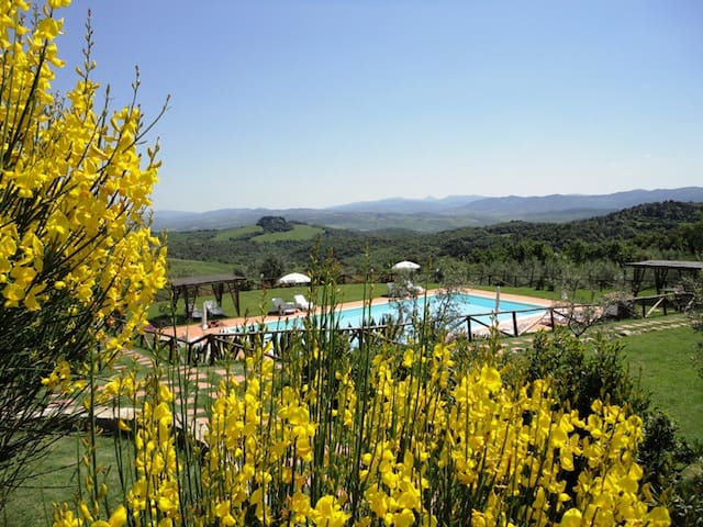 Tuscany charme! Great view! - Montecatini Val di Cecina - Apartmen
