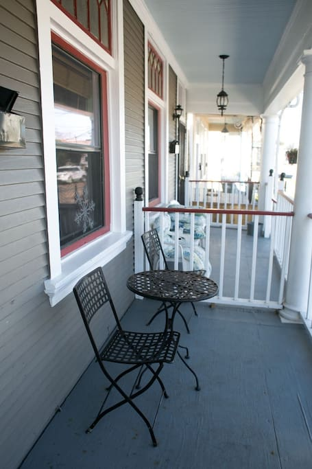 The front porch.