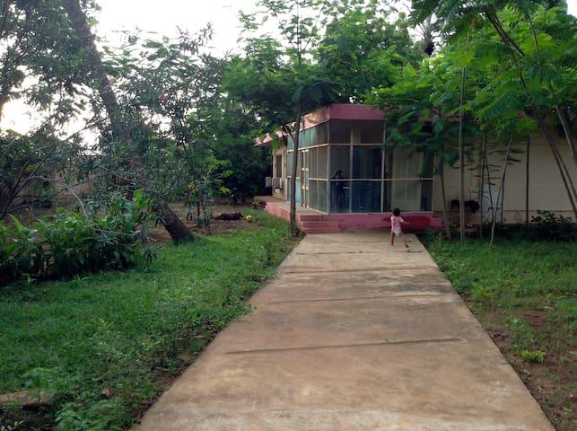 Maison et jardin centre-ville