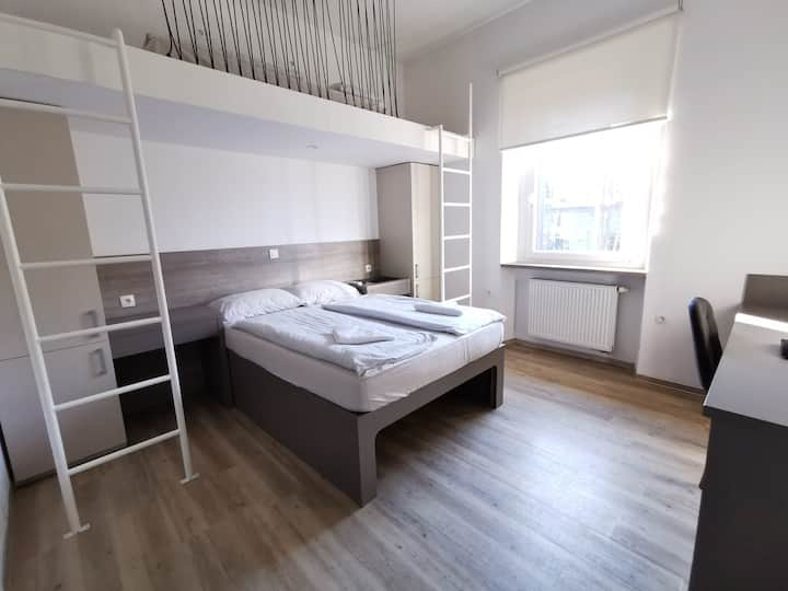 Triple room with city view (Ljubljana city centre)