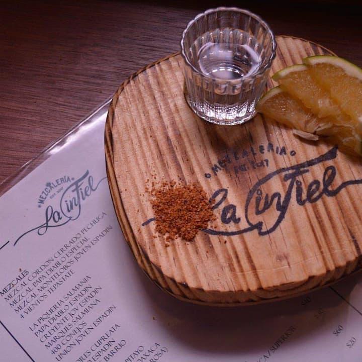 Enjoy a Mezcal tasting served properly